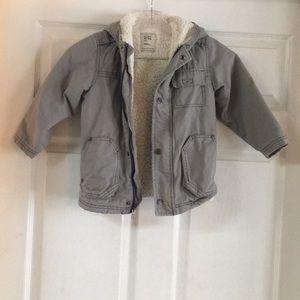 Boy's gray coat